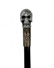 Gehstock mit Cyborg Skull Knauf