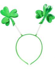 St. Patricks Day Haarreif mit Kleeblatt