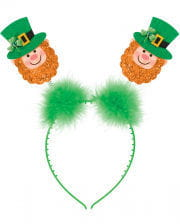 St. Patrick's Day Headband With Leprechaun