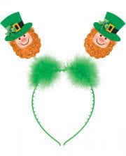 St. Patricks Day Haarreif mit Kobold