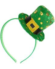 St. Patricks Day Haarreif mit Mini-Hut