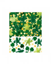 St. Patricks Day Kleeblatt Konfetti