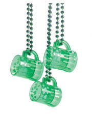 St. Patrick's Day shot glass with chain