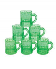 St. Patrick's Day shamrock shot glasses 12 pcs