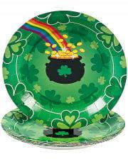 St. Patrick`s Day Pappteller 8 St.