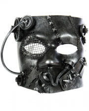 Steampunk Bauta Maske silber