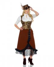 Steampunk Corset Vest With Cogwheel Motif