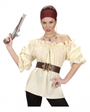 Steampunk Pirate Blouse Beige