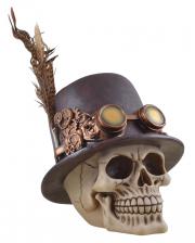 Steampunk Totenschädel mit Zylinder