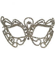 Rhinestone Eyes Mask Butterfly