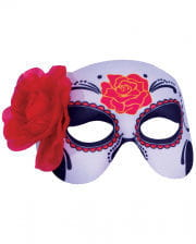 Sugar Skull With Rose Eye Mask