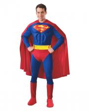 Superman adult costume muscle
