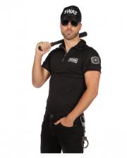 SWAT Agent Herren Kostüm-Shirt