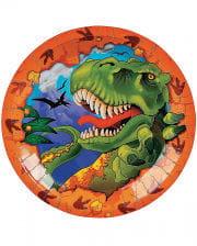 T-Rex paper plates  sc 1 st  Horror-Shop.com & Dinosaur Latex Mask for Halloween ?   horror-shop.com