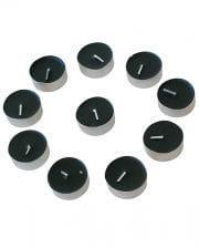 Black Tealights Set of 10
