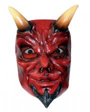 Teufels Halbmaske mit Hörner