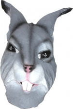 Animal Mask Rabbit Grey