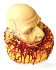 Torte mit blutigem Kopf