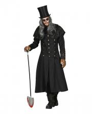 Totengräber Kostüm Mantel mit Kragen für Herren