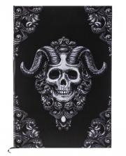 Skull Notebook With Demon Skull