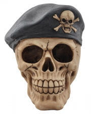Skull with beret