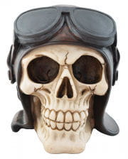 Totenschädel mit Pilotenhaube