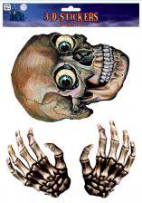 Totenschädel & Skelett Hände Fensterfolie