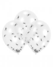 Transparente Latexballons mit Spinnen-Konfetti
