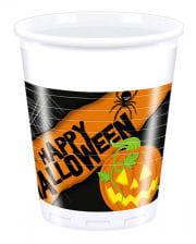 Spooky Halloween plastic cups 8 St.
