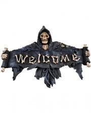 Gothic Door Sign Welcome