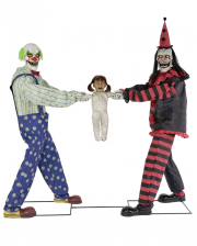 Tug of War Horror Clowns Animatronic