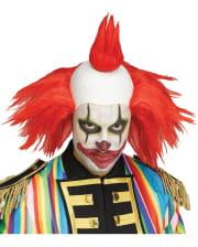 Twisty horror clown wig red