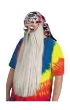 Ultra long gray beard