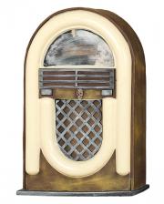 Unheimliche Radio Jukebox mit Licht & Sound