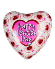 Happy Valentins Day Herz Folienballon