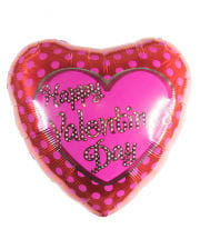 Happy Valentines Day Foil balloon with dots