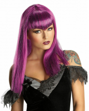 Vampire Glitter Wig Purple