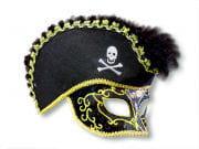 Venezianische Piraten-Maske schwarz