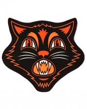 Vintage Halloween Cat Rug