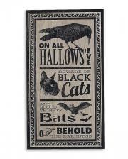 "Vintage Halloween Sign ""Hallows Eve"" 46x24cm"