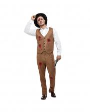 Clyde Zombie Gangster Herren Kostüm