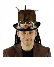 Voodoo Top Hat With Dreadlocks