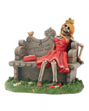 """""""Waiting For The Perfect Man"""" Skeleton Figure"""