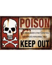 Warnschild Poison Keep Out