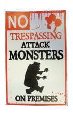 Warnschild Attackierendes Monster