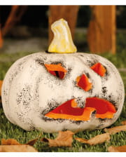 White Decorative Pumpkin With Illumination 13cm