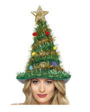 Christmas hat with tinsel