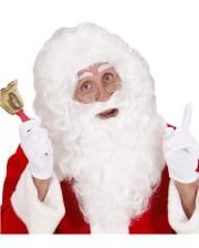 Weiße Weihnachtsmann Perücke mit Maxibart