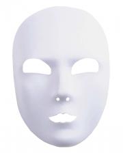Weiß satinierte Gesichts Maske