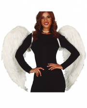 White Angel Wings With Feathers 100 X 80cm